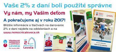 """Levočská nemocnica vyhlasuje akciu """"Prispejte 2%"""" na rekonštrukciu detského oddelenia"""
